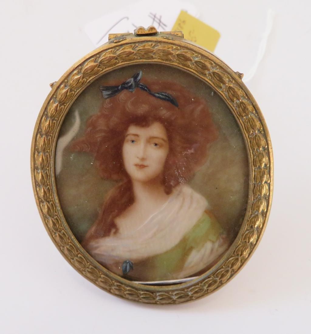 English Handpainted Miniature - 2
