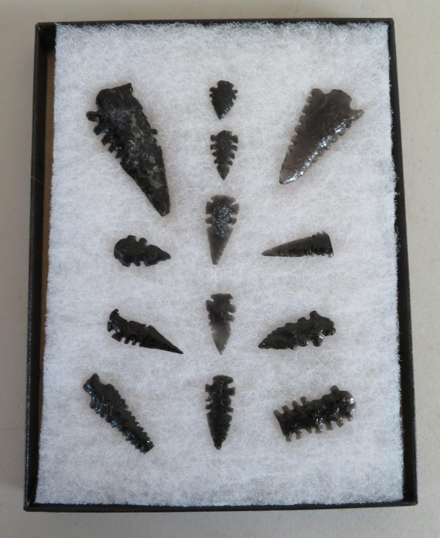 Collection of Obsidian Artifacts