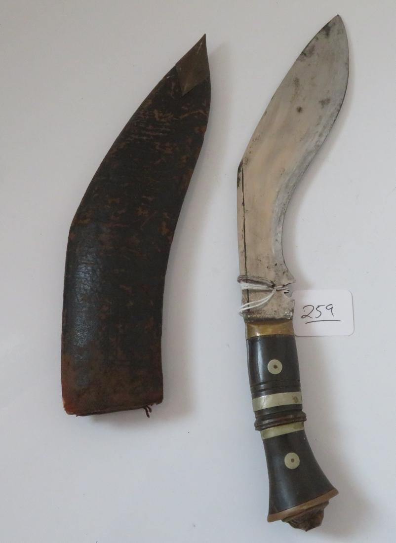 Antique Kukri Knife w/Sheath