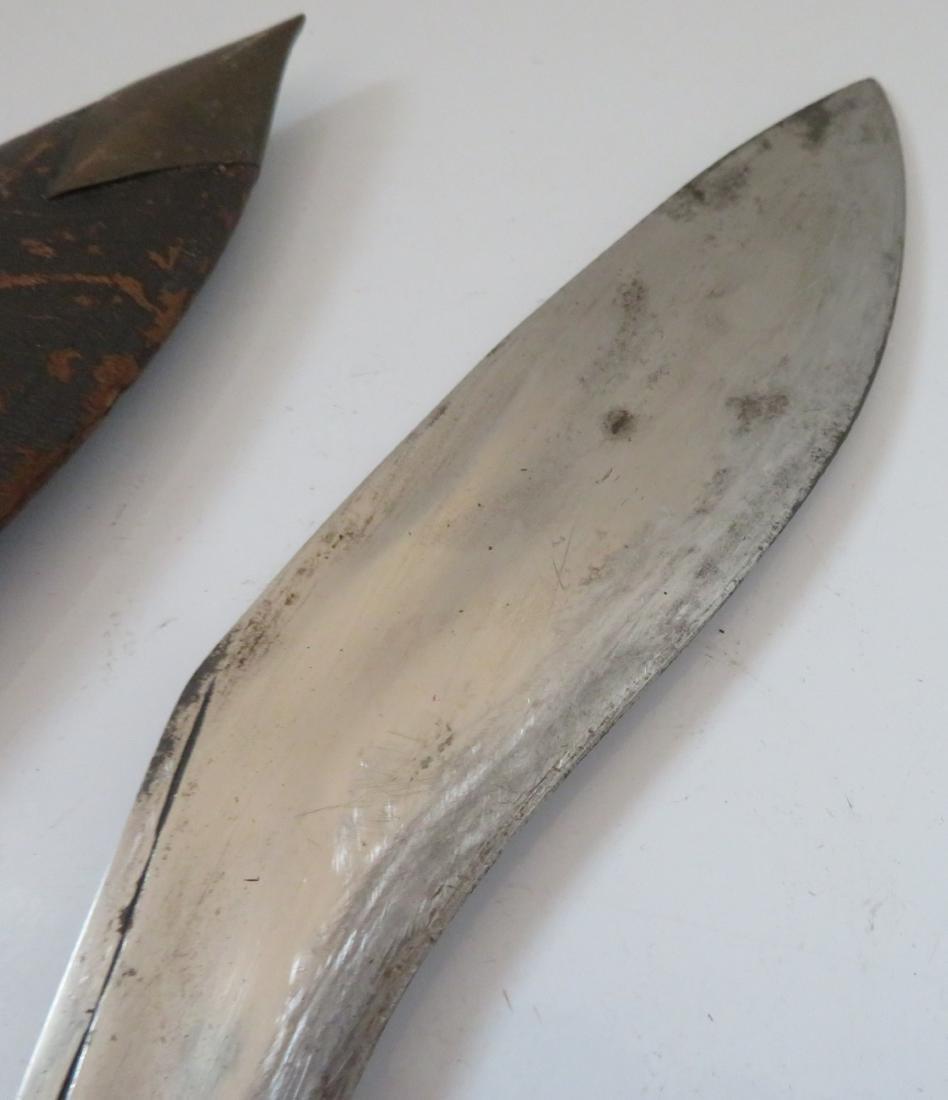 Antique Kukri Knife w/Sheath - 7