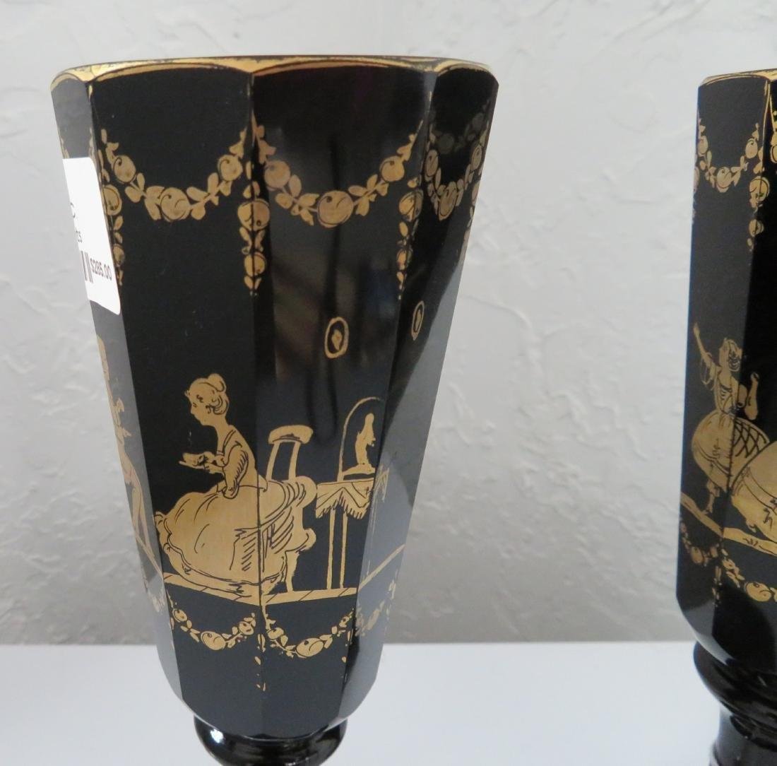 2 Black Amethyst Goblets - 2