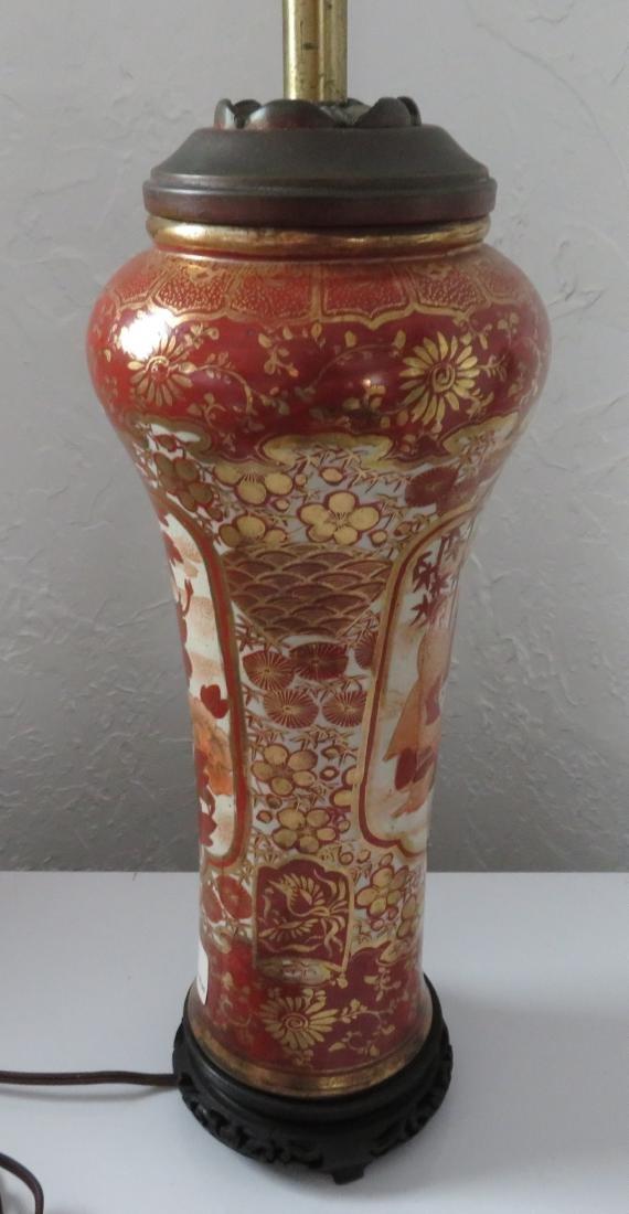 Japanese Kutani Lamp - 9