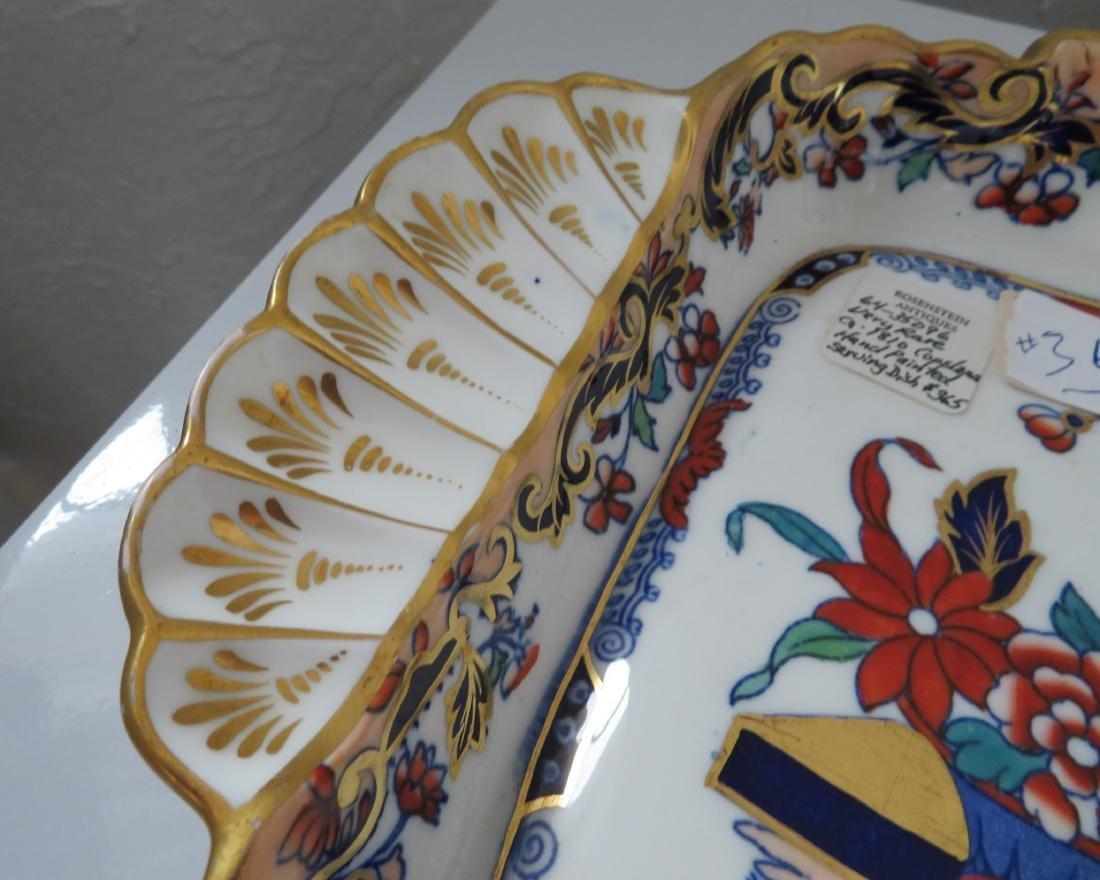 Rare Copeland Handpainted Serving Dish - 2