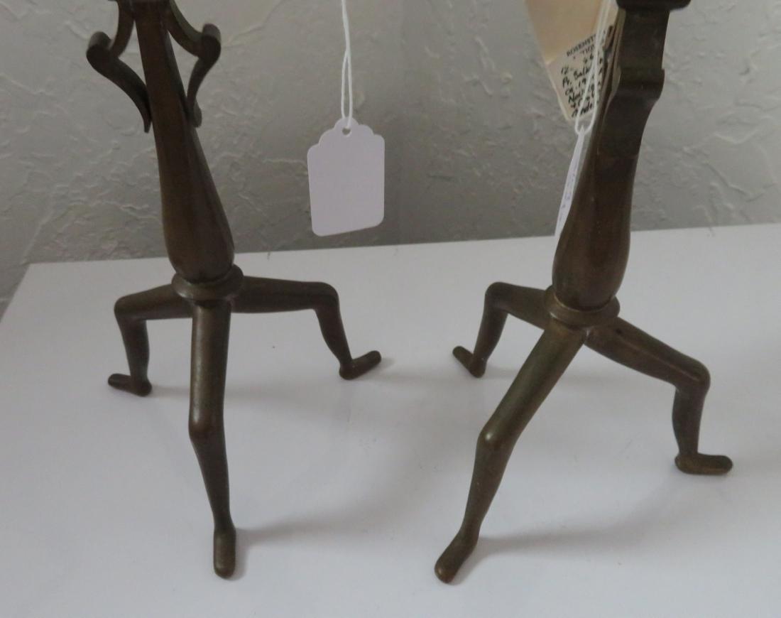 Pair of Bronze Art Nouveau Candlestick Holders - 10