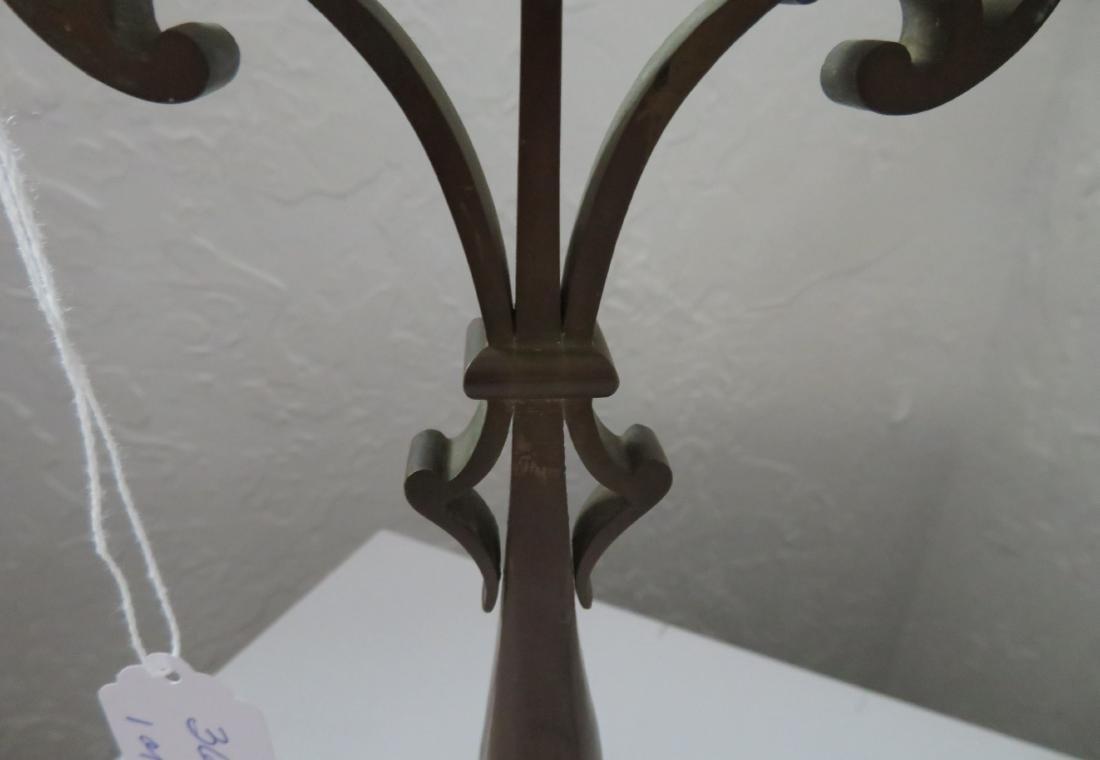 Pair of Bronze Art Nouveau Candlestick Holders - 3
