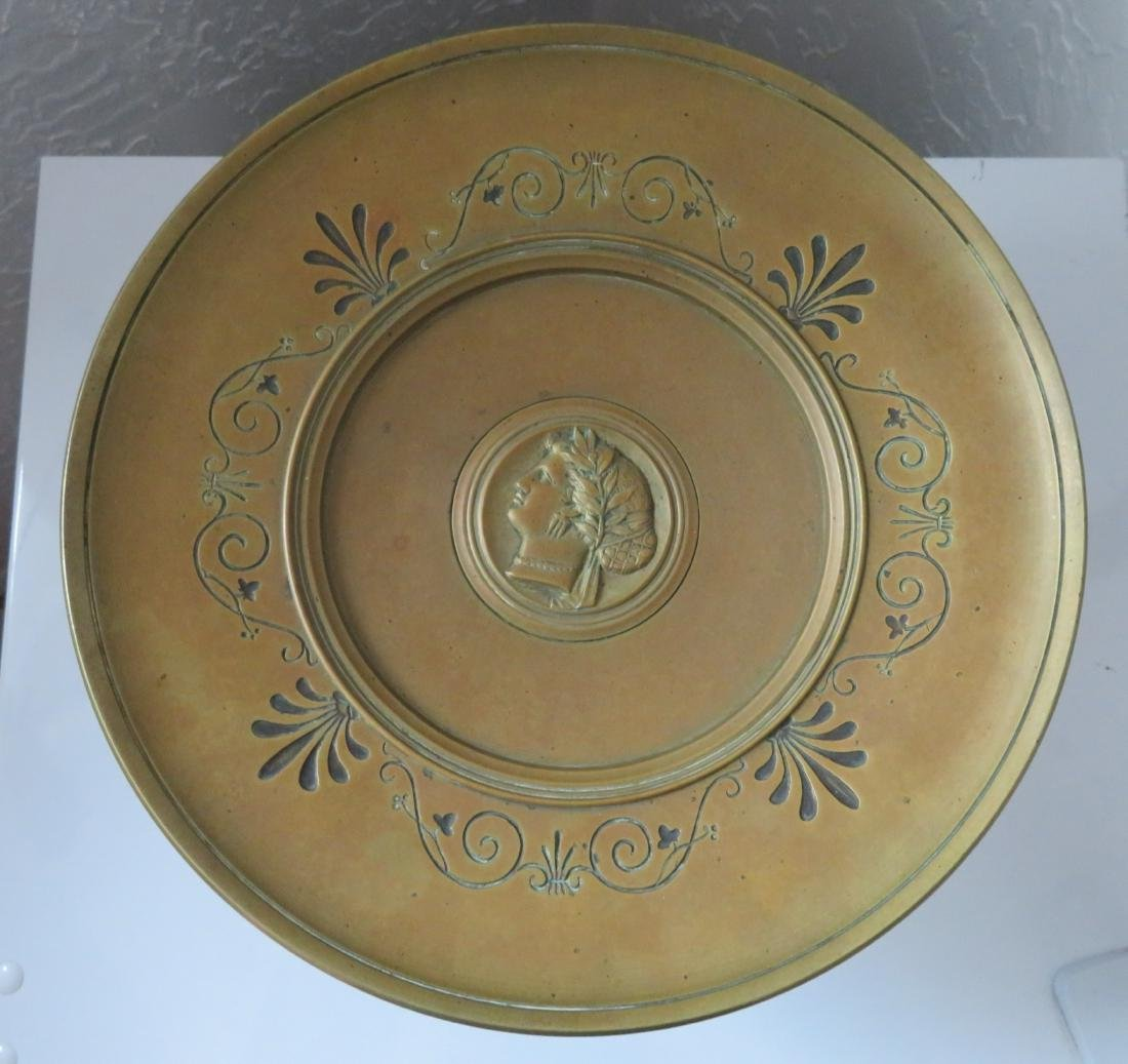 Antique French Bronze Tazza - 2