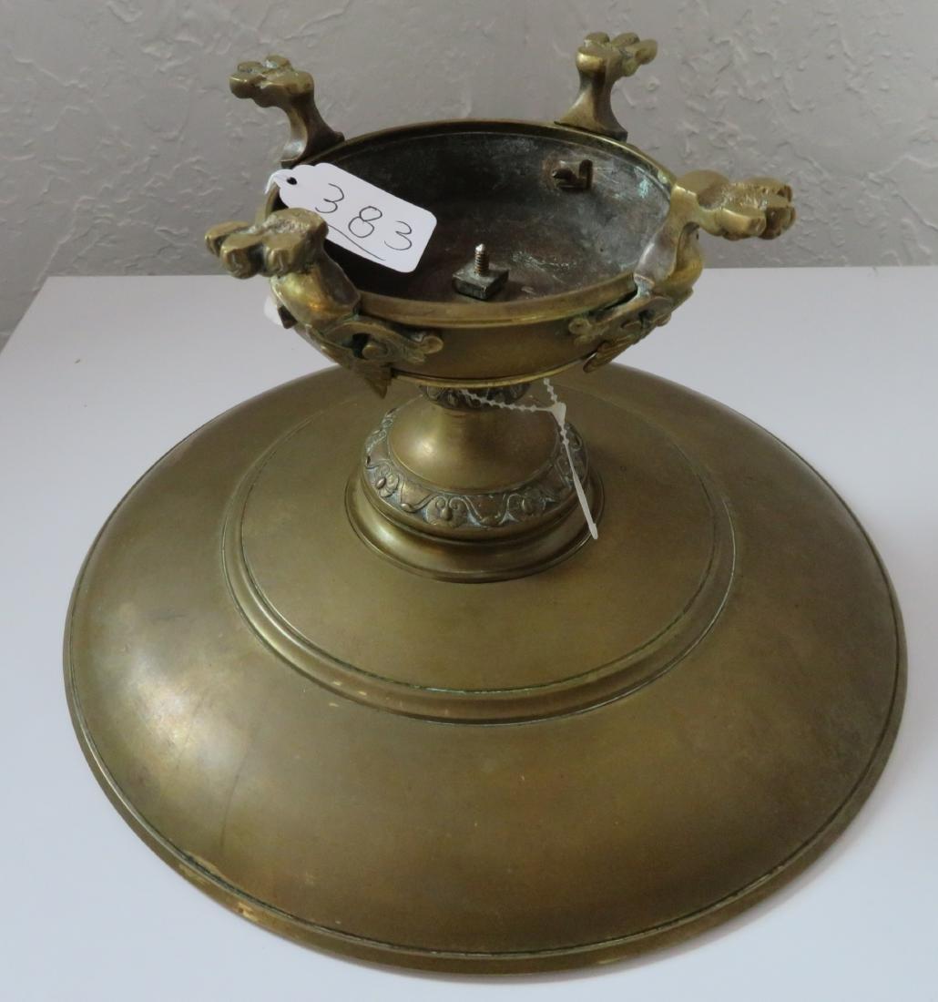 Antique French Bronze Tazza - 7