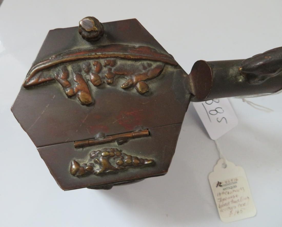 Japanese Bronze Traveling Writer's Case - 3