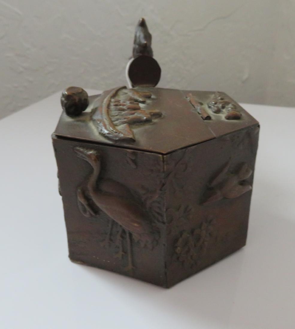 Japanese Bronze Traveling Writer's Case - 8