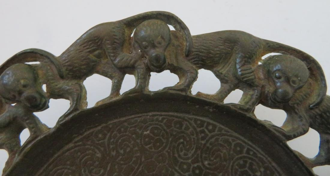 Bronze Mirror w/Monkeys - 2