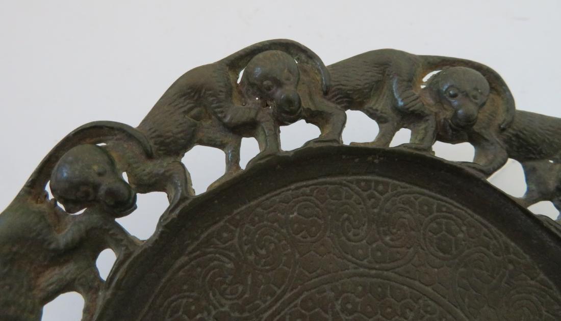 Bronze Mirror w/Monkeys - 3