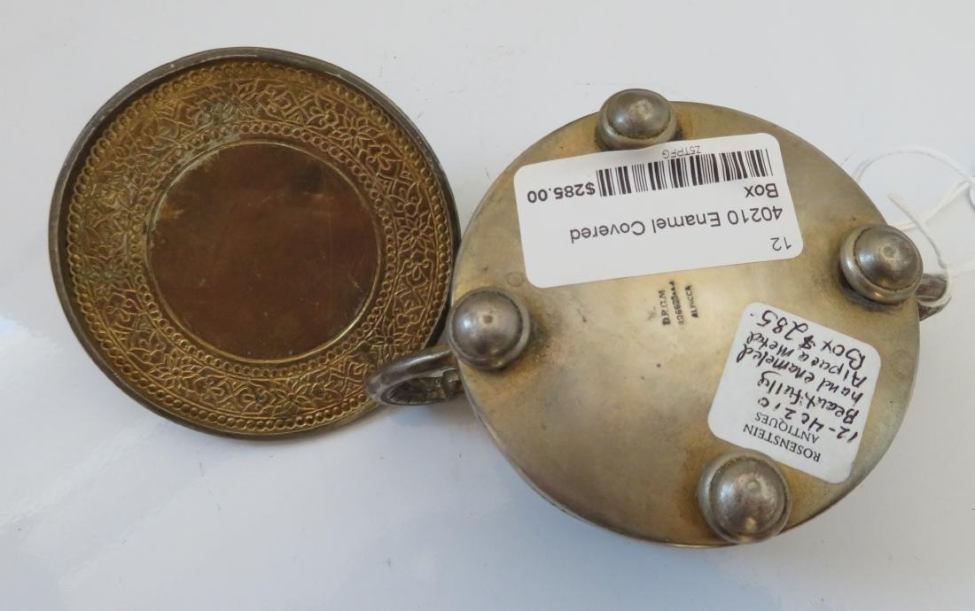 Enamel German Silver Box - 10