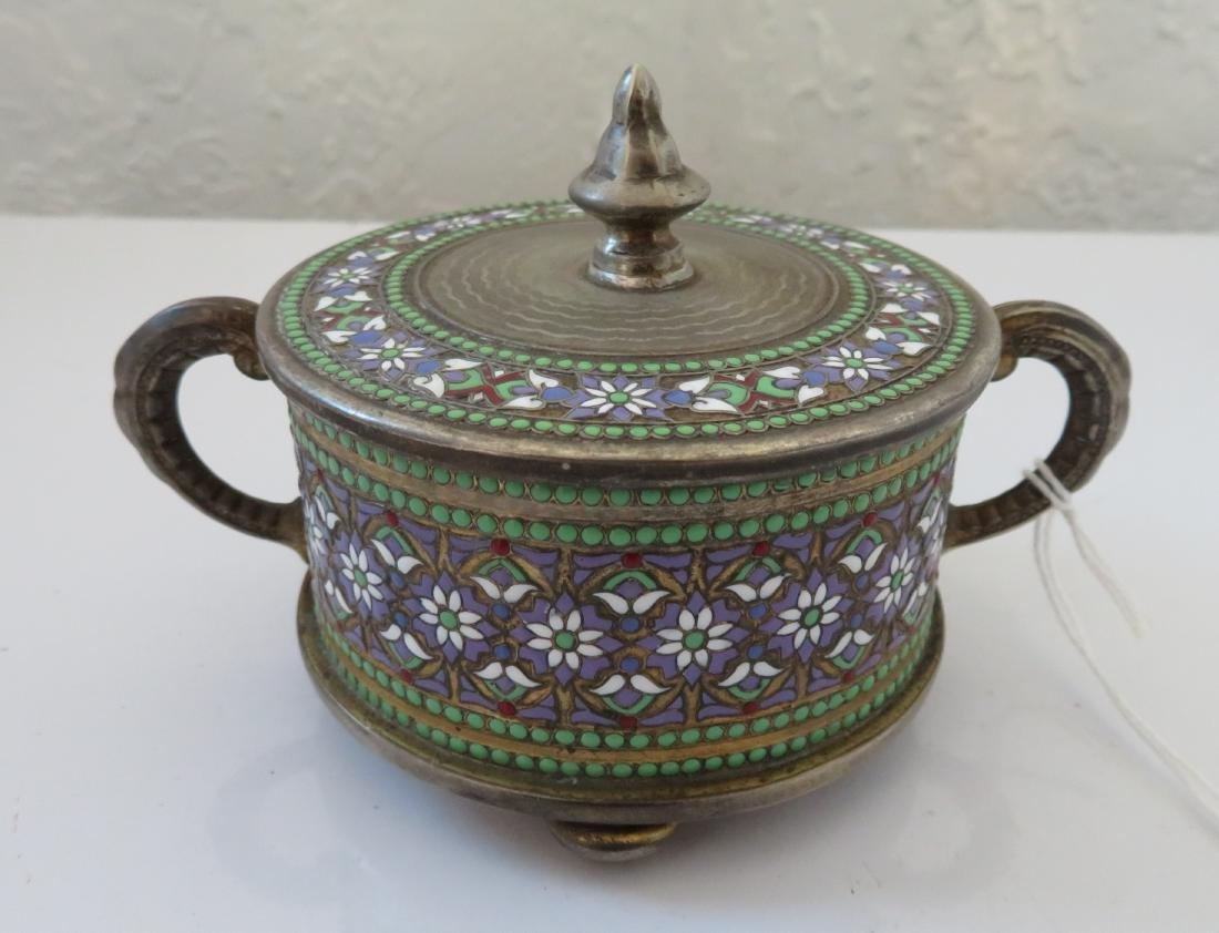 Enamel German Silver Box