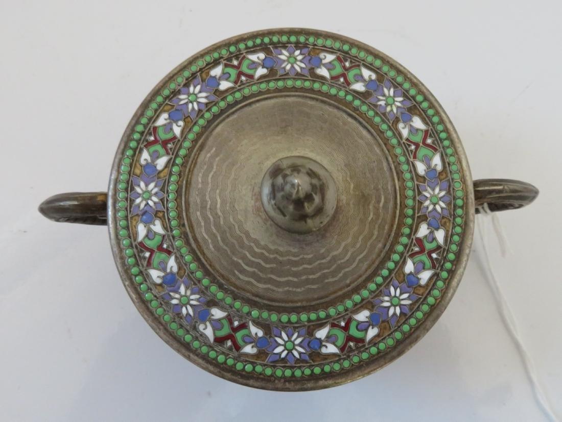 Enamel German Silver Box - 2