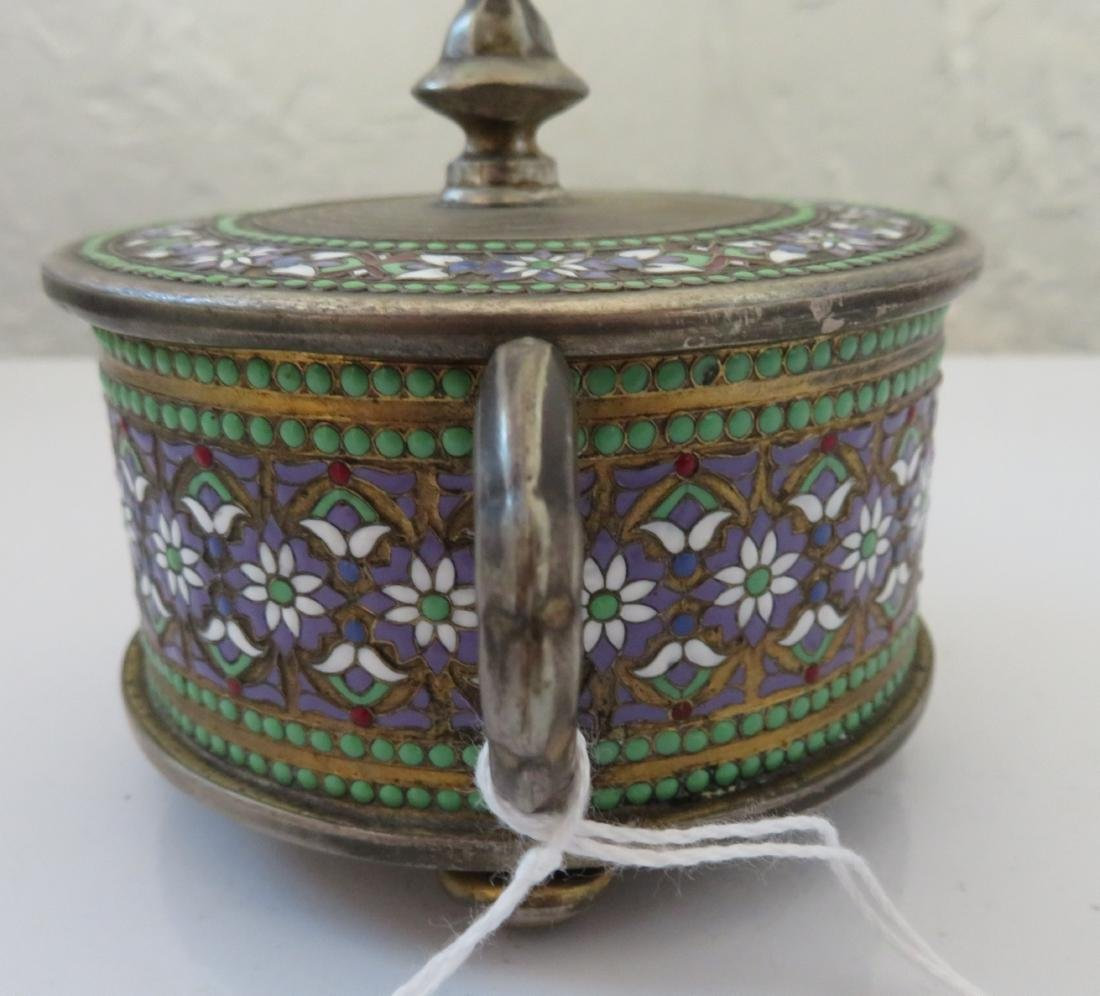 Enamel German Silver Box - 6