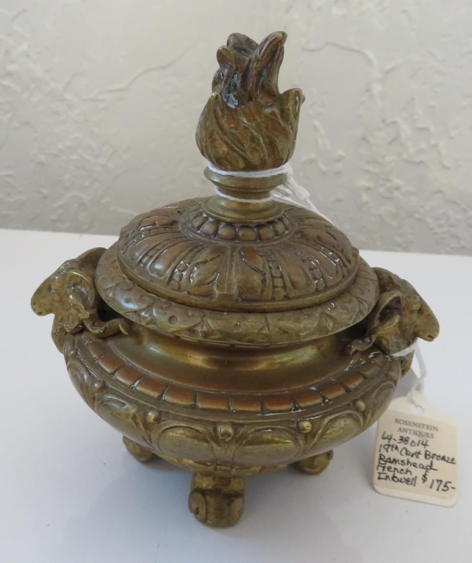 Bronze Ink Well w/Rams
