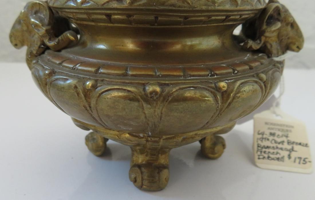 Bronze Ink Well w/Rams - 6