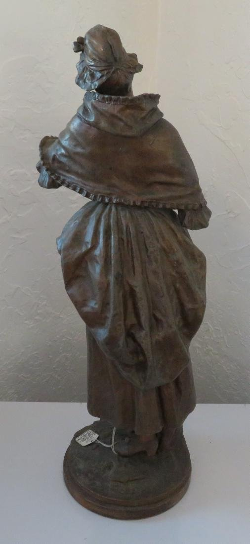 Victorian Lady Spelter w/Original Paint - 10