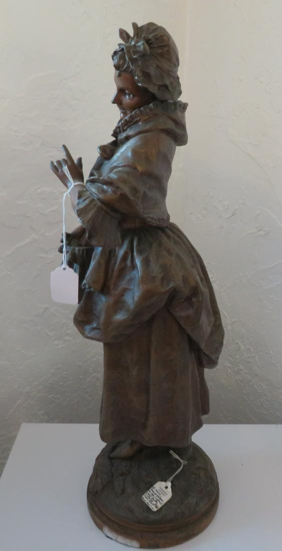 Victorian Lady Spelter w/Original Paint - 7