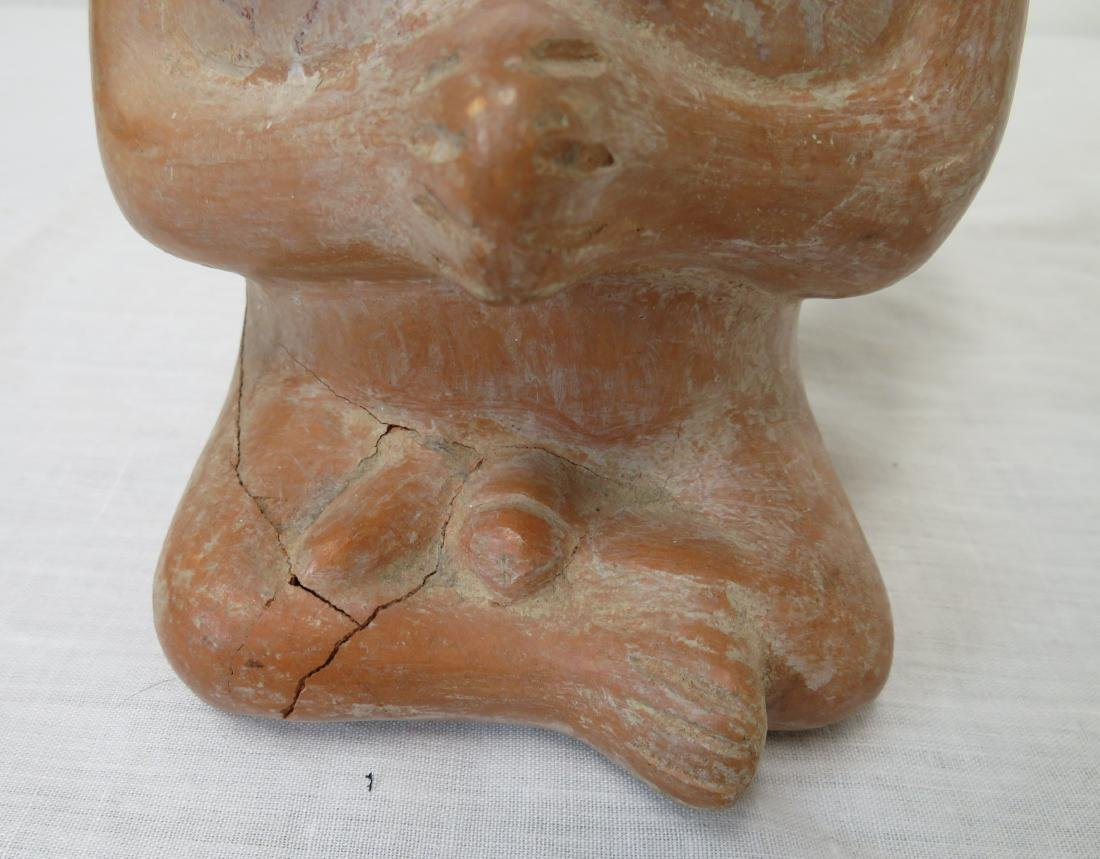 Effigy Central American Stirrup Pot - 7