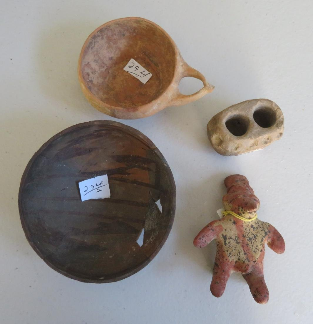 Collection of 4 Pre-Columbian Items