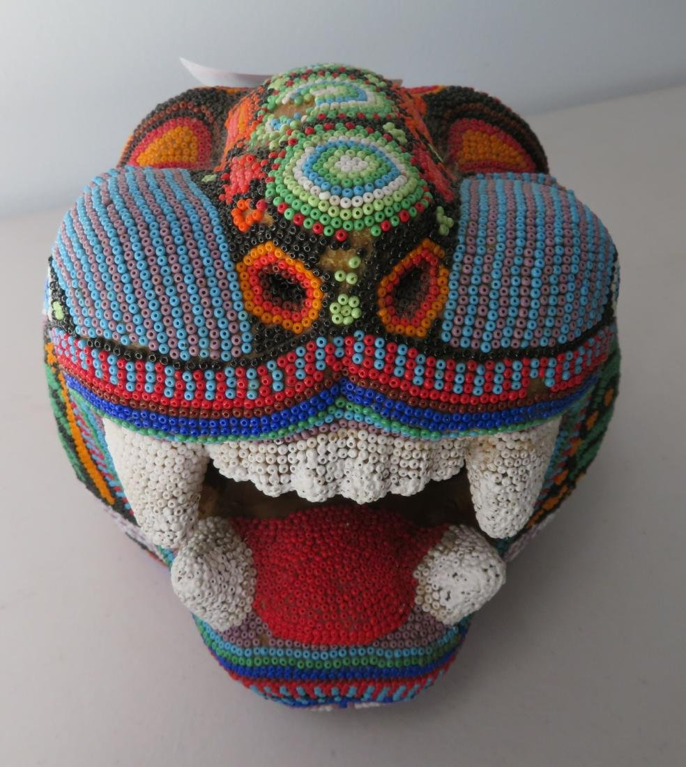 Huichol Beaded Jaguar Head - 2