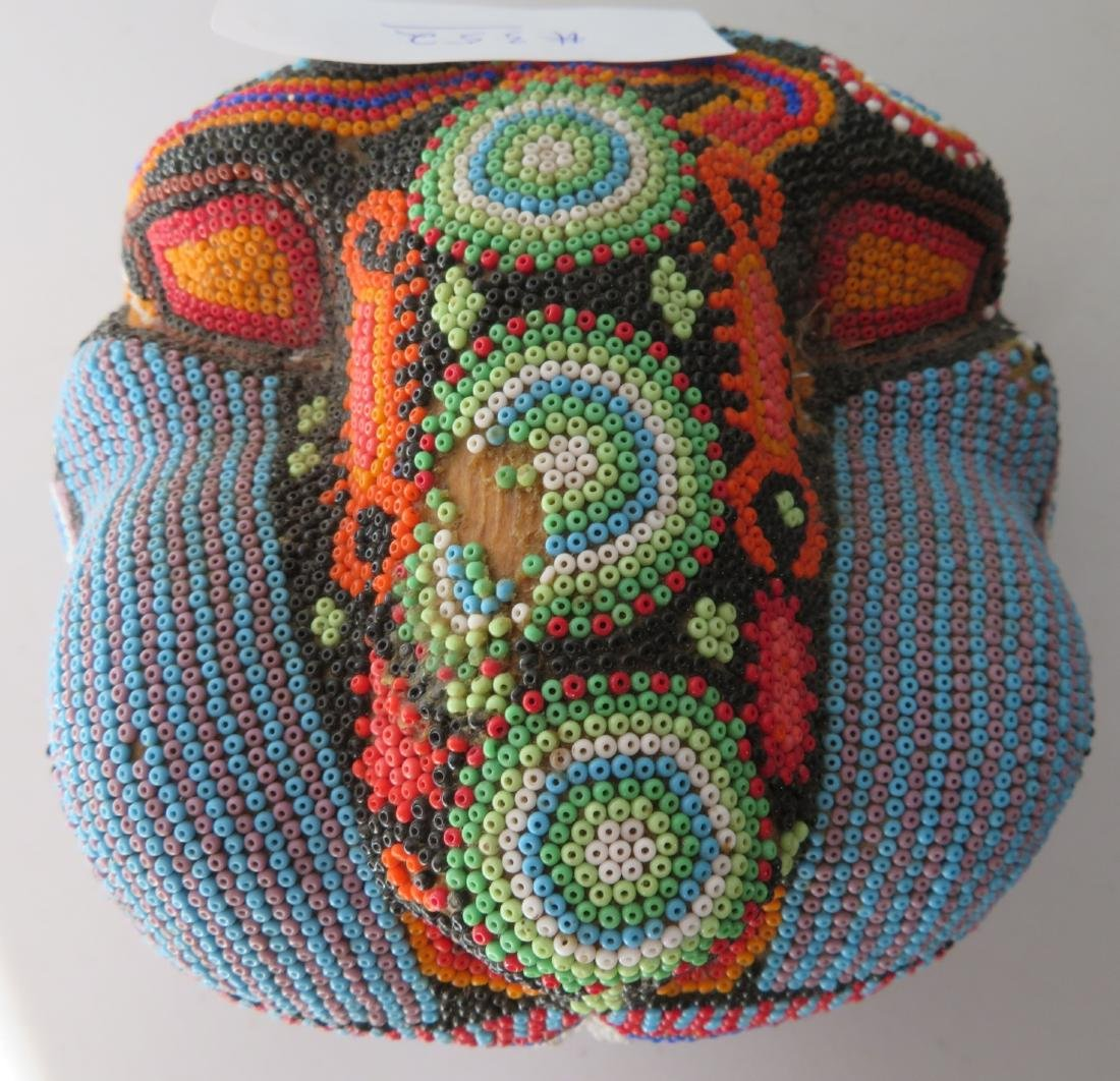 Huichol Beaded Jaguar Head - 6