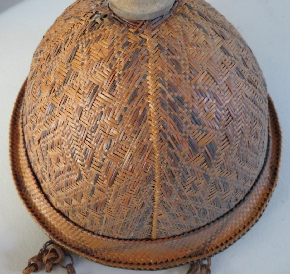 Indonesian Basketry Hat - 3