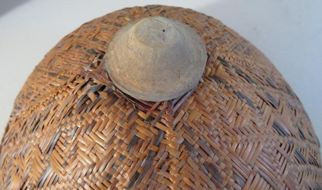Indonesian Basketry Hat - 4