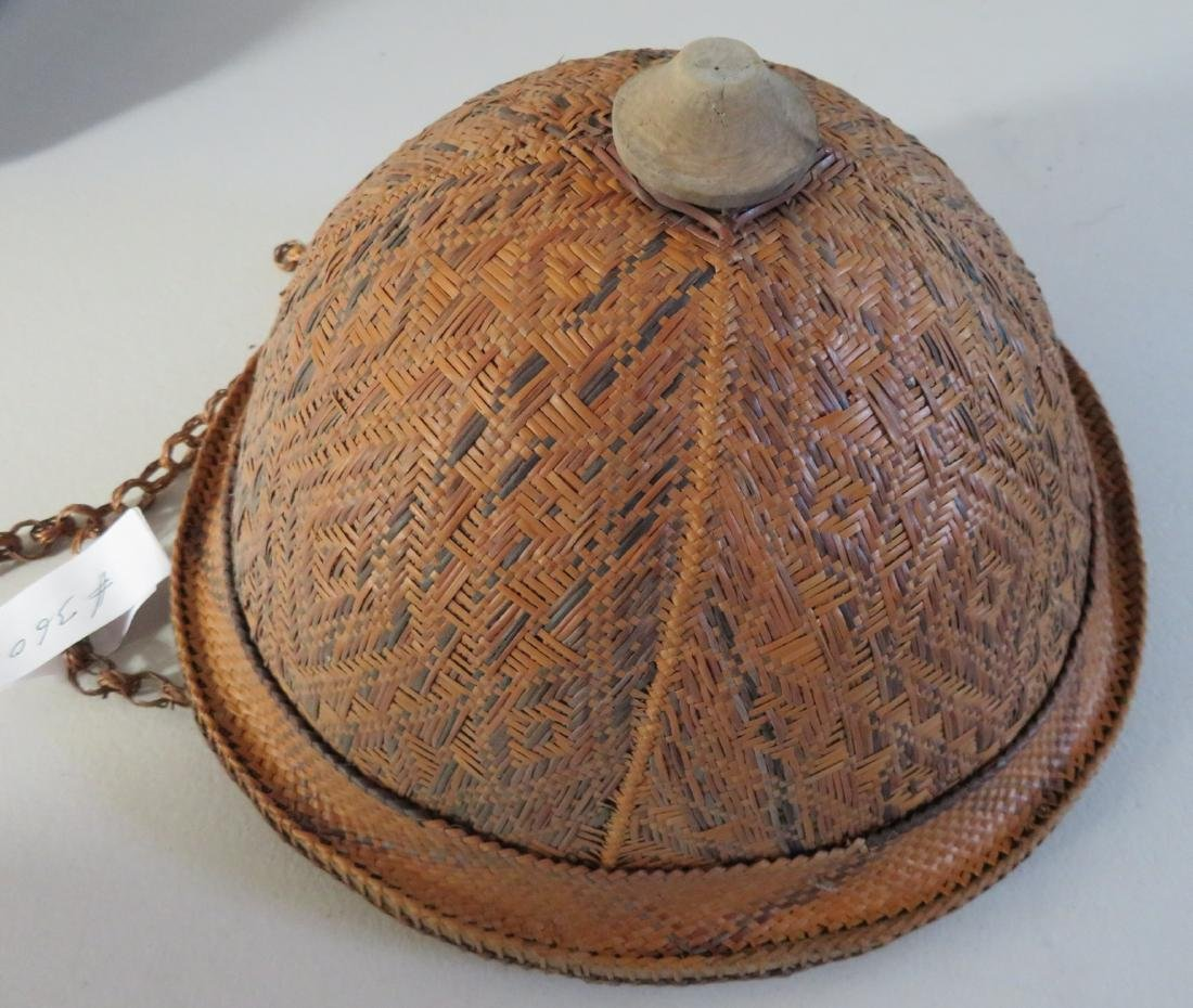 Indonesian Basketry Hat - 5