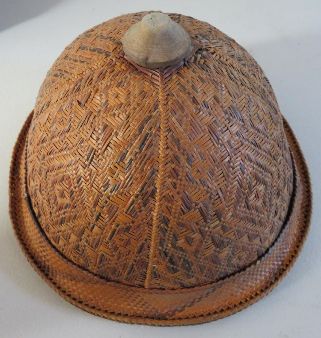 Indonesian Basketry Hat - 6