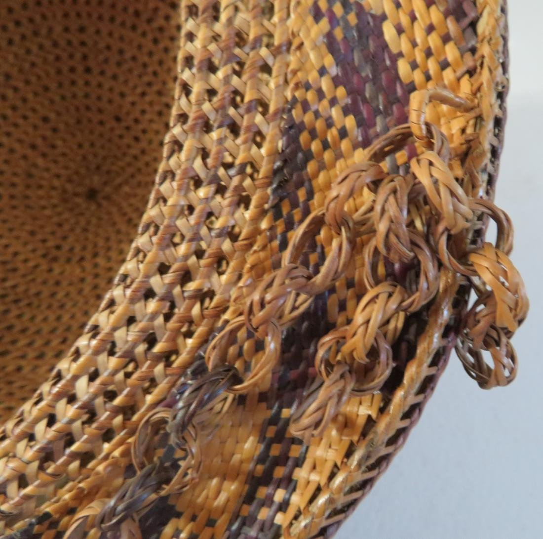 Indonesian Basketry Hat - 9