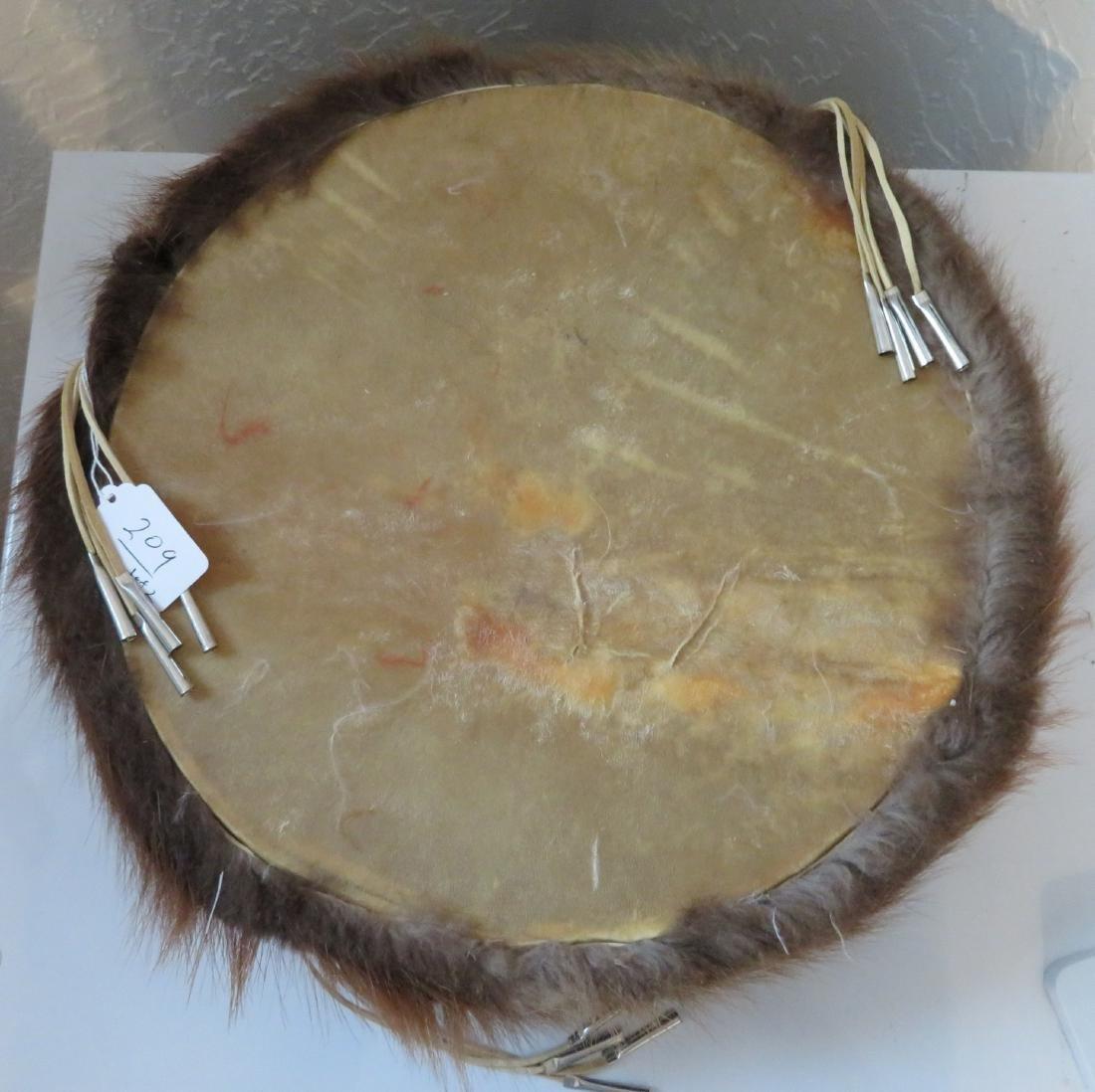 Plains Indian Drum w/Beater - 10