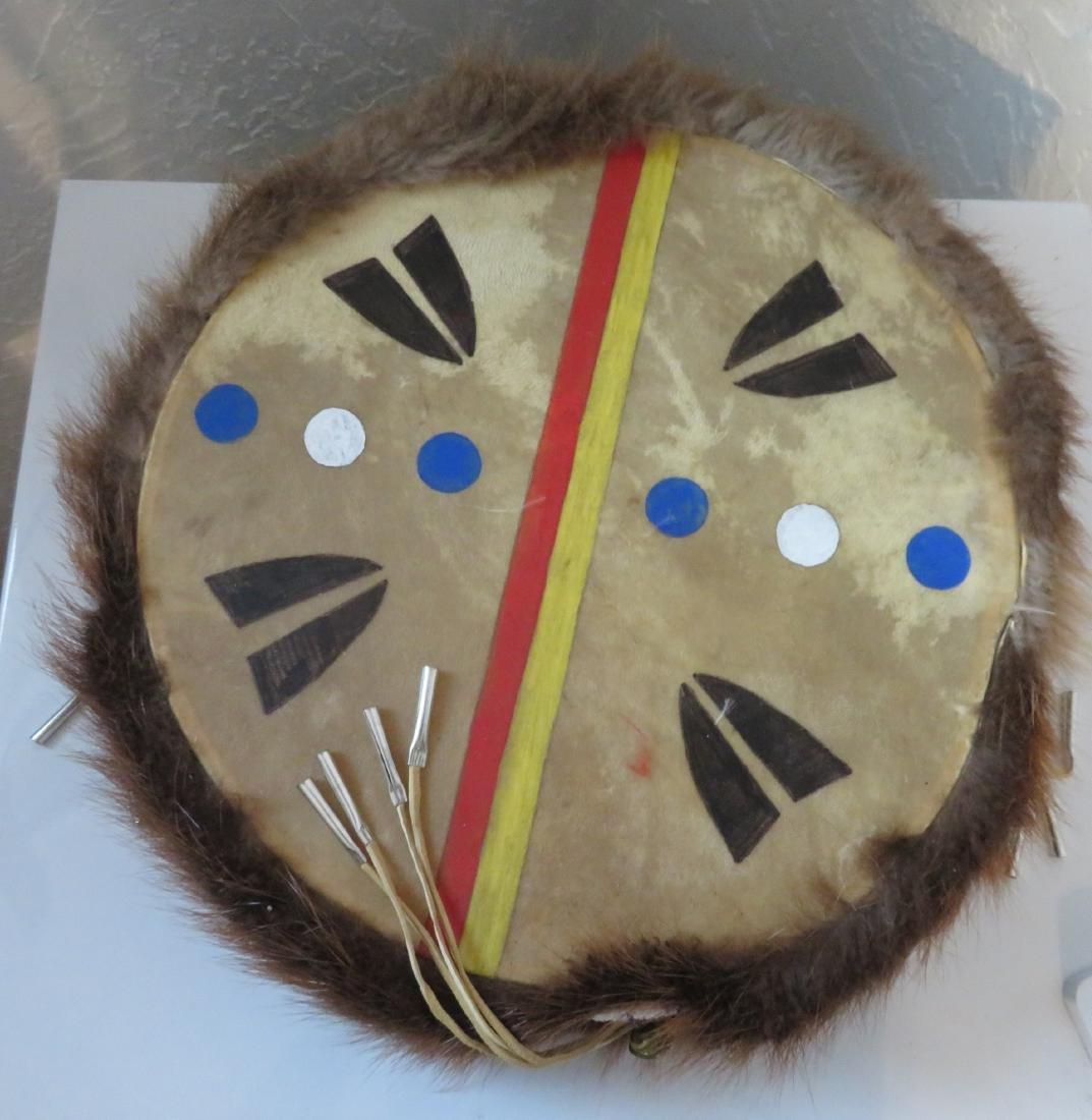 Plains Indian Drum w/Beater - 8
