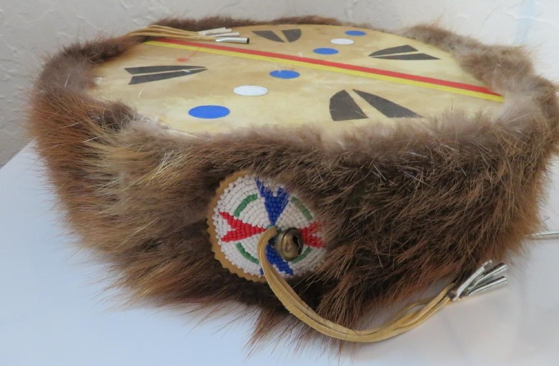 Plains Indian Drum w/Beater - 9