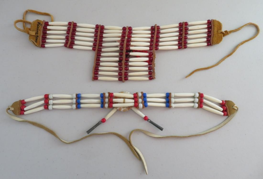 2 Bone & Beaded Necklaces - 10