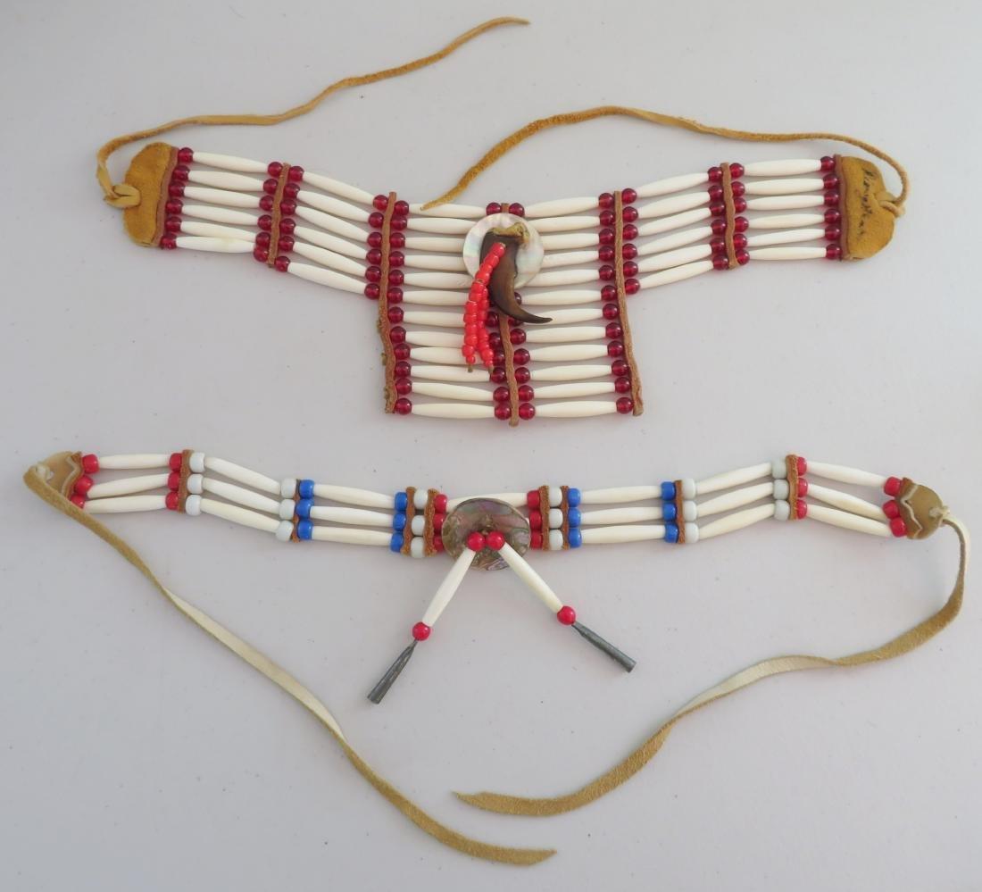 2 Bone & Beaded Necklaces