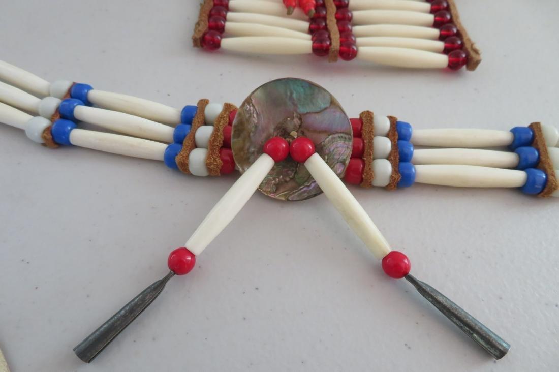2 Bone & Beaded Necklaces - 2