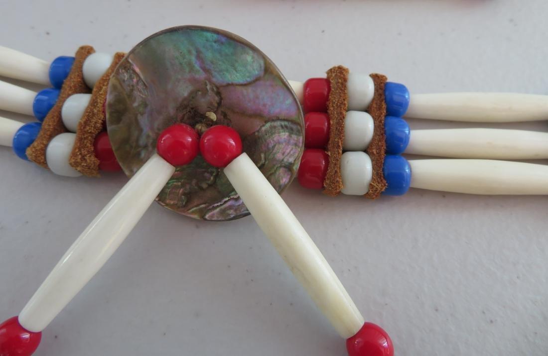 2 Bone & Beaded Necklaces - 3
