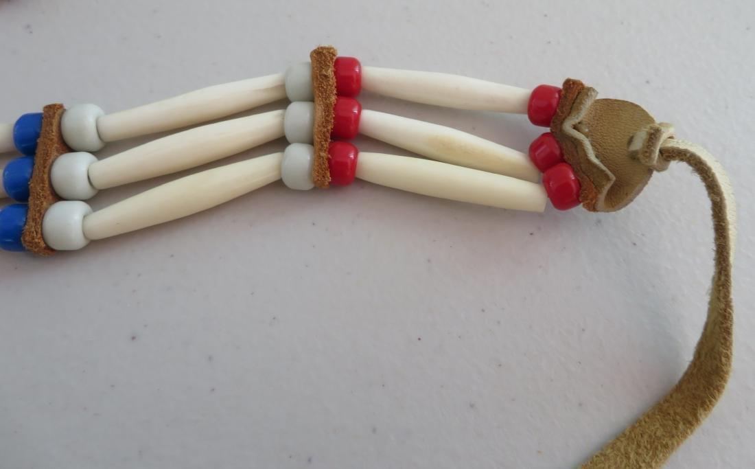 2 Bone & Beaded Necklaces - 4