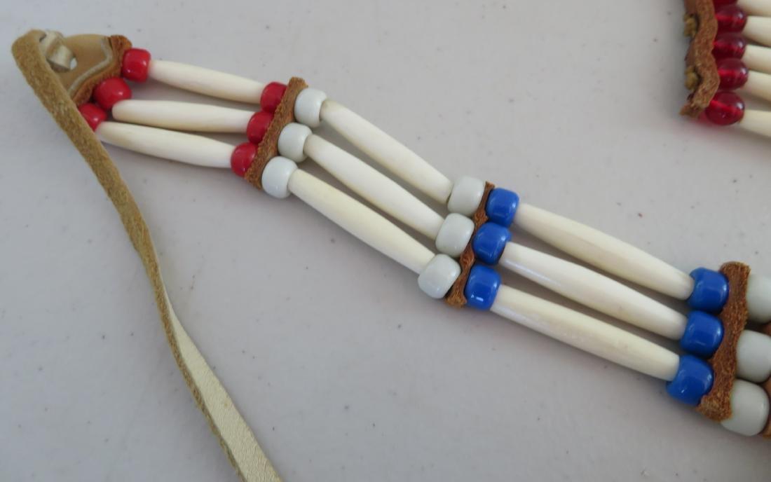 2 Bone & Beaded Necklaces - 5