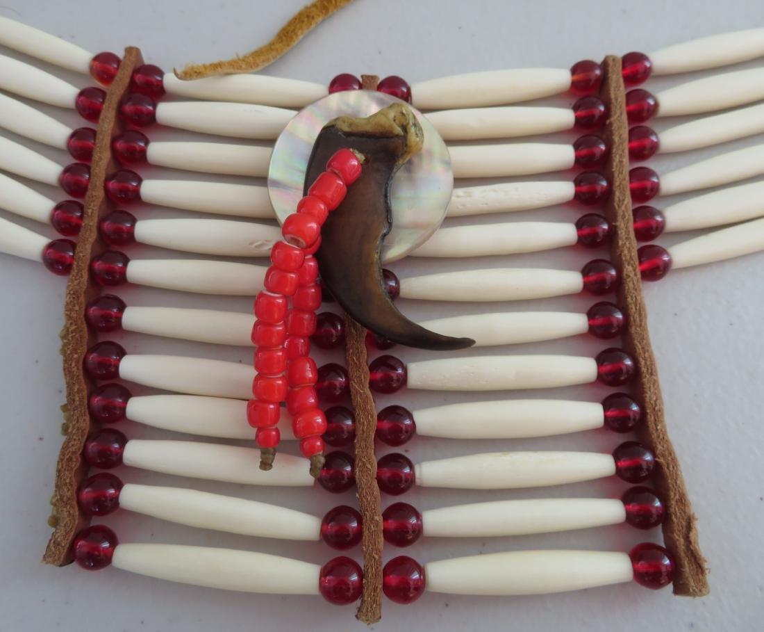 2 Bone & Beaded Necklaces - 7