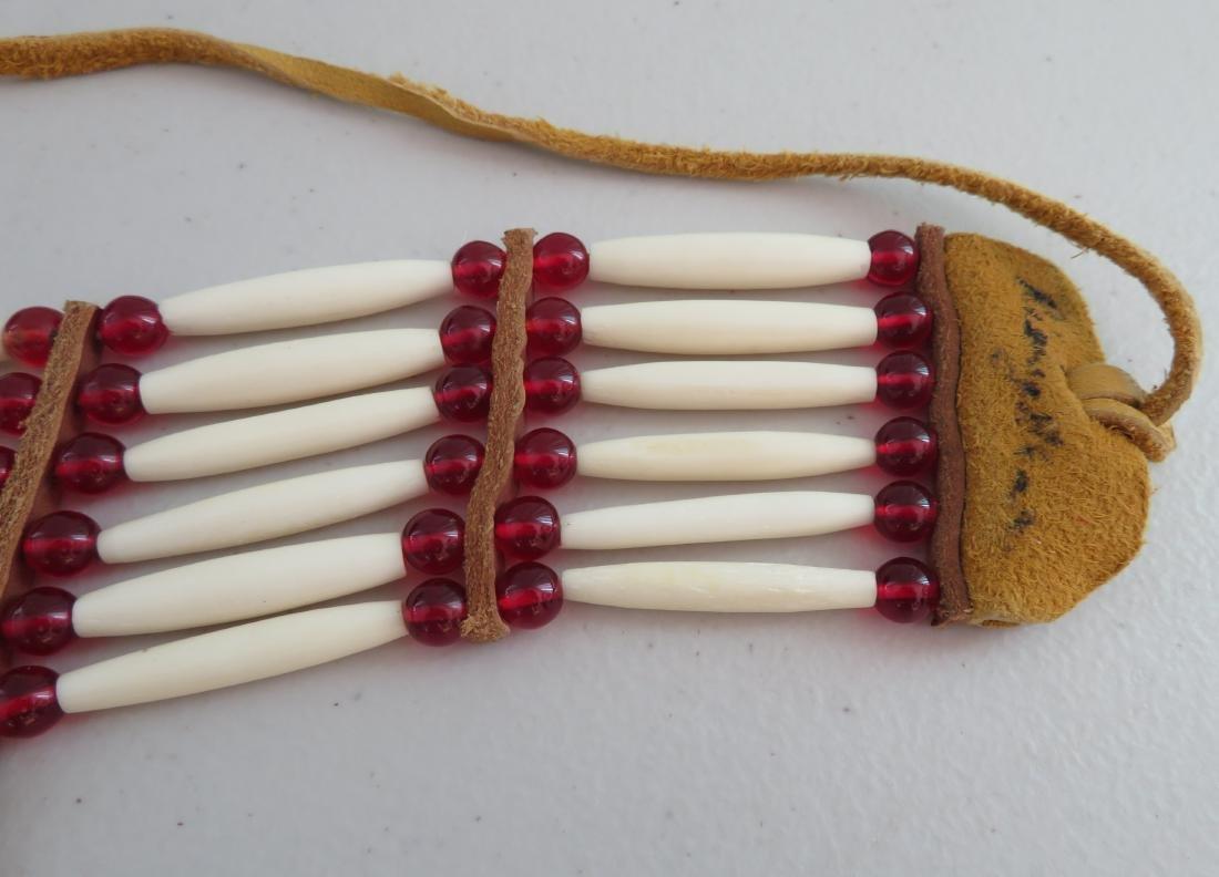 2 Bone & Beaded Necklaces - 8