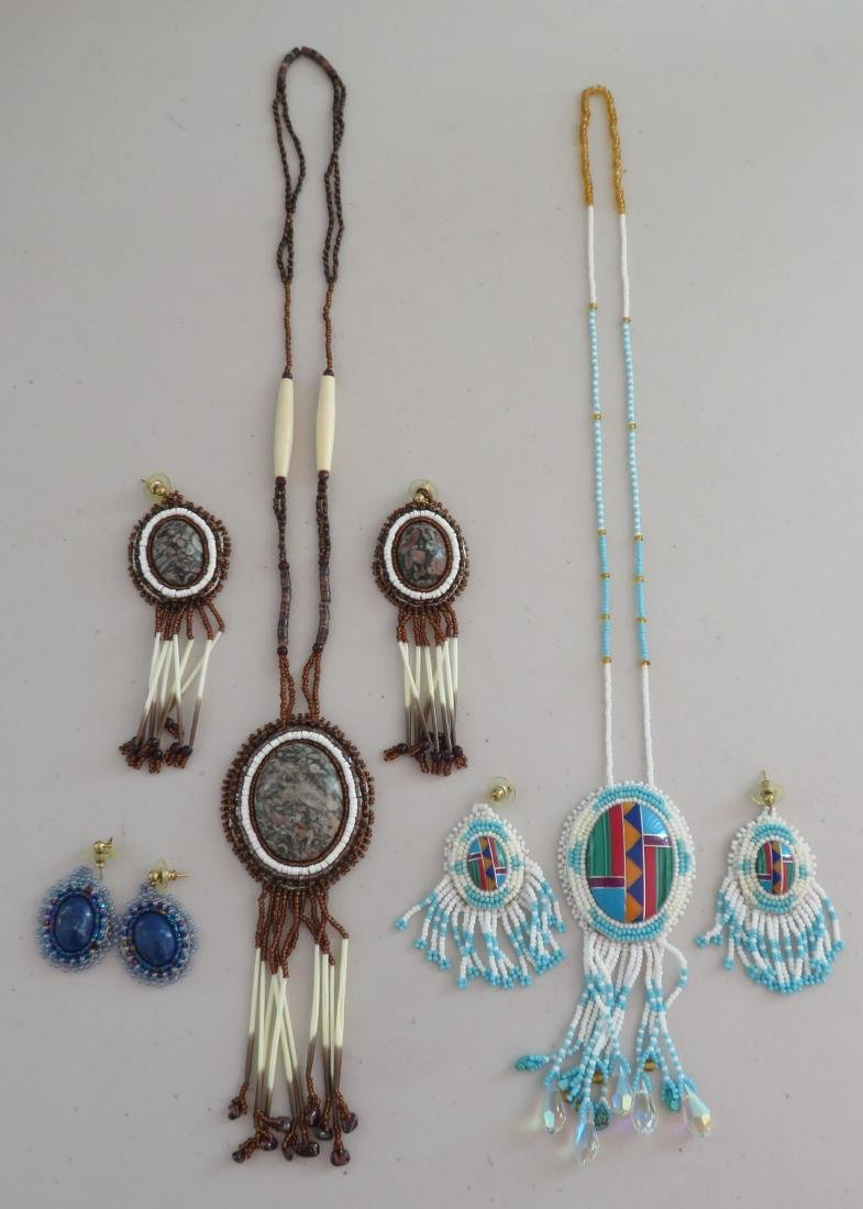 Beaded Necklaces w/Matched Earrings