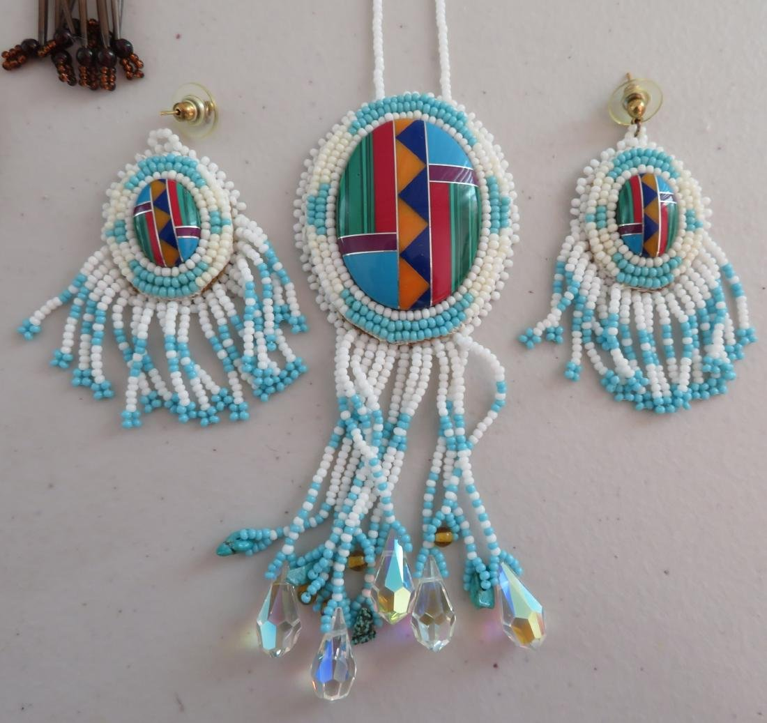 Beaded Necklaces w/Matched Earrings - 2