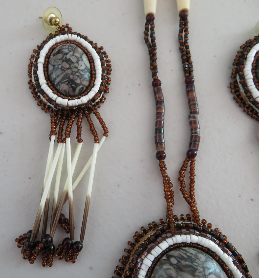 Beaded Necklaces w/Matched Earrings - 6