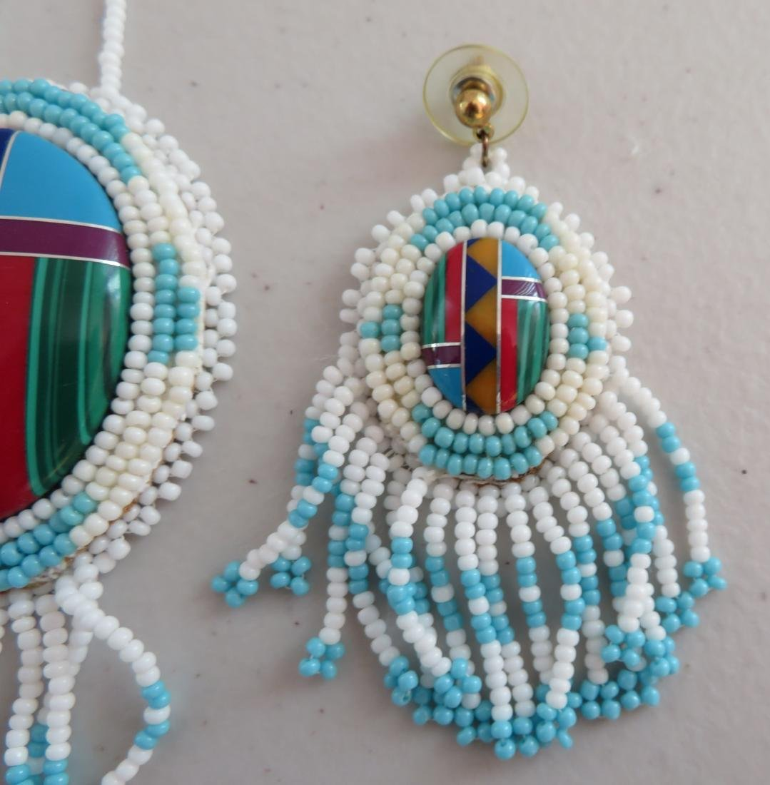 Beaded Necklaces w/Matched Earrings - 8