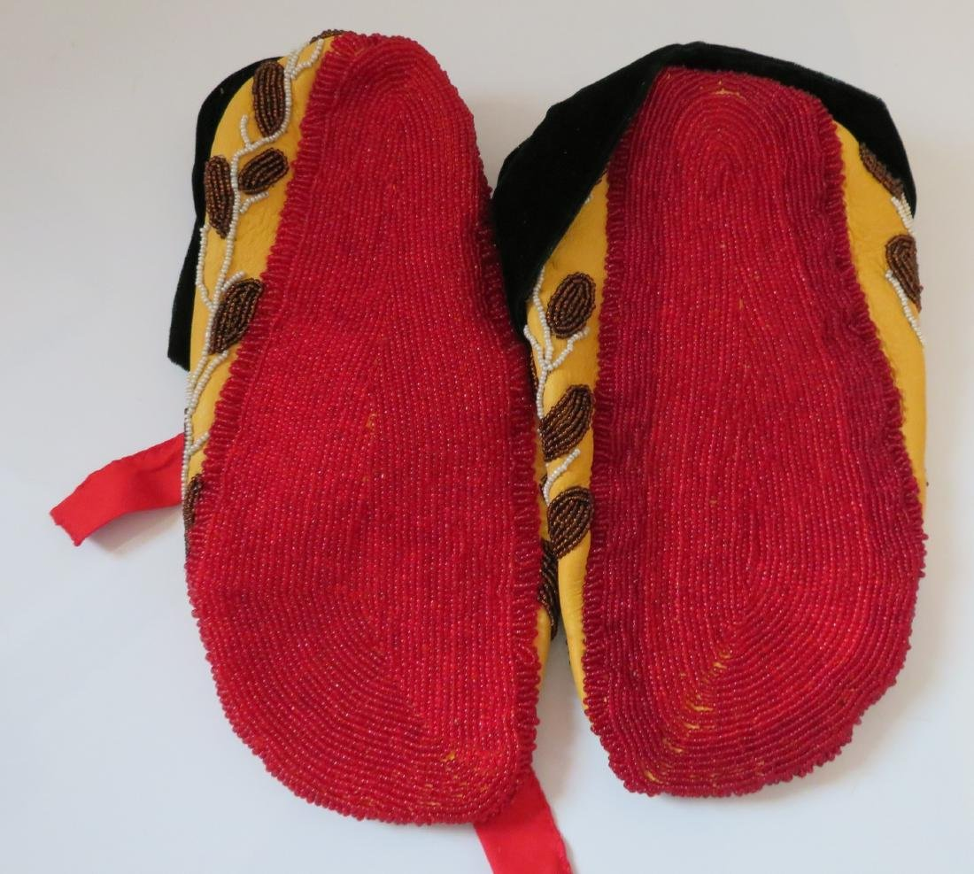 Fully-Beaded Ceremonial Moccasins - 10