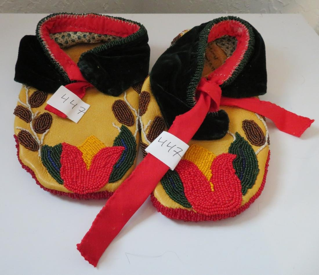 Fully-Beaded Ceremonial Moccasins