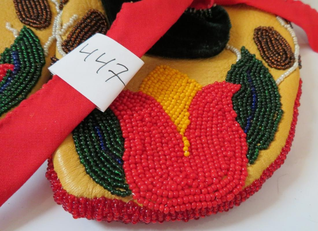 Fully-Beaded Ceremonial Moccasins - 2